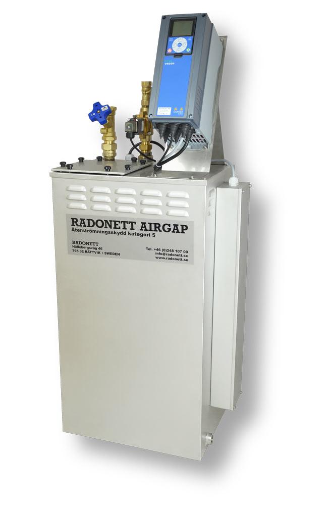 AirGap 150/5 Frekvensstyrd återströmningsskydd, brutet vatten, SS-EN 1717, airgap