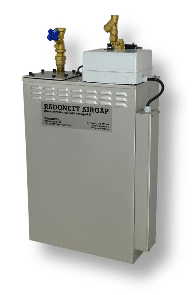 AirGap 120/5 återströmningsskydd, brutet vatten, SS-EN 1717, airgap