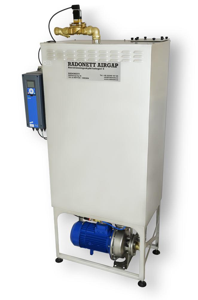 AirGap 250/6 återströmningsskydd, brutet vatten, SS-EN 1717, airgap