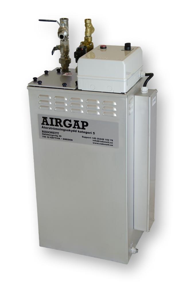 AirGap 60/5 återströmningsskydd, brutet vatten, SS-EN 1717, airgap