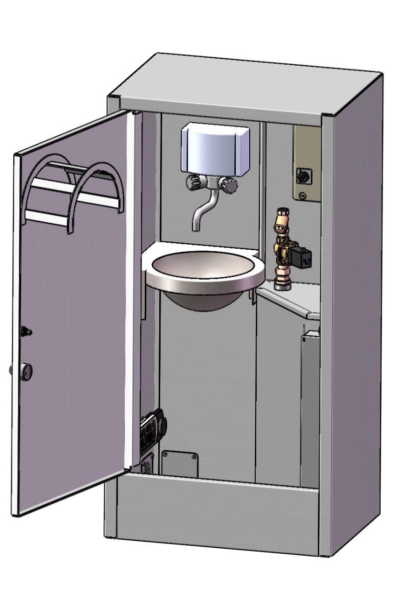 AirGap Cabinet återströmningsskydd, brutet vatten, SS-EN 1717